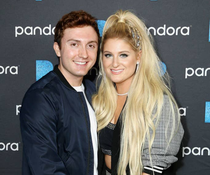Daryl Sabara and Meghan Trainor attend the Pandora Presents: Pop Coast Hits