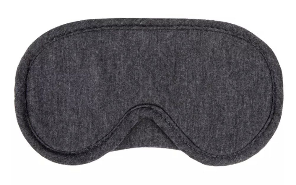 a grey fabric sleeping mask