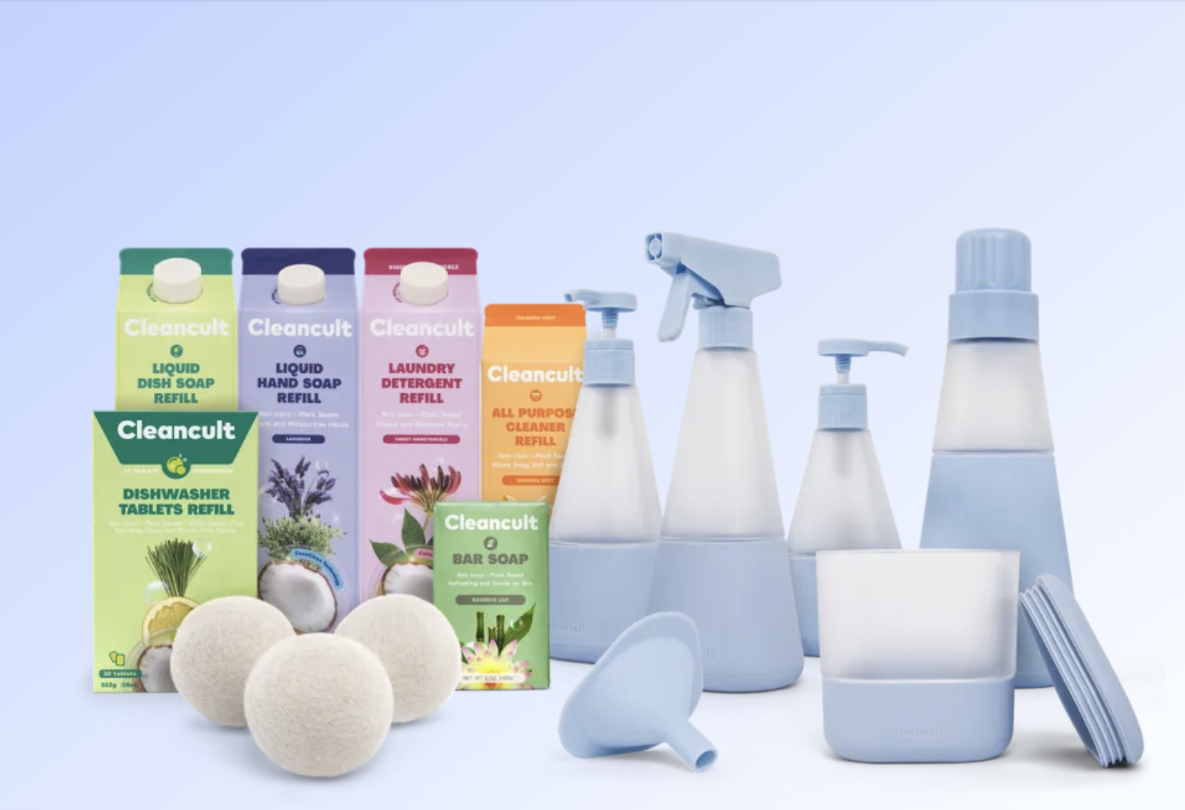 The complete home cleaning bundle in periwinkle