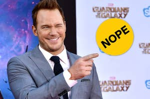 Chris Pratt at the Guardians of the Galaxy premiere.