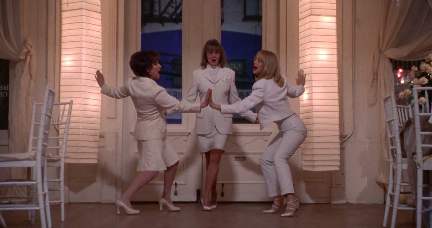 """bette midler diane keaton and goldie hawn dancing in """"first wives club"""""""