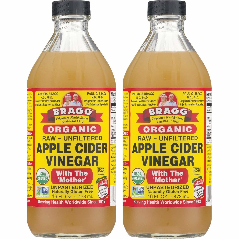 Two bottles of the vinegar