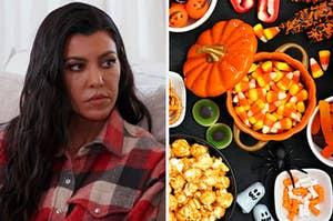 Kourtney Kardashian and Halloween candy.
