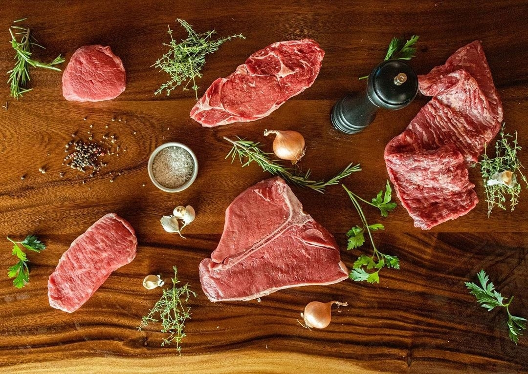 an array of meat cuts