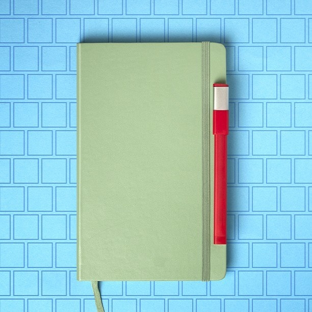 The notebook in light green