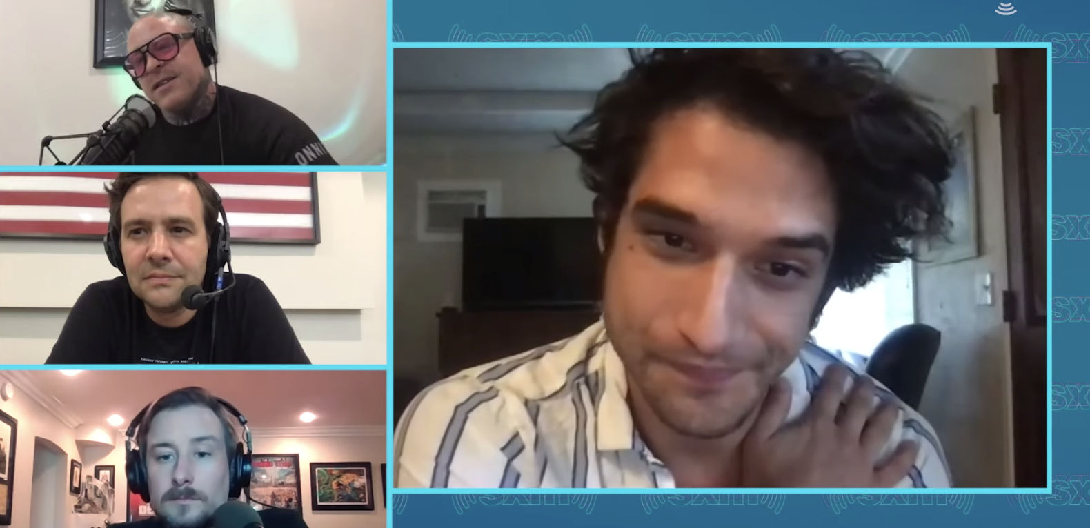 "Tyler Posey talking about a sex party where ""people were hired to perform."""