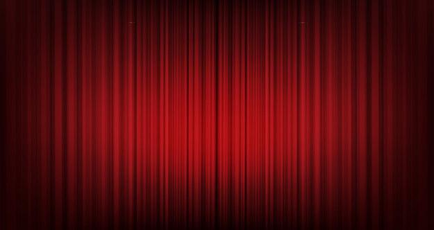 A theatre curtain