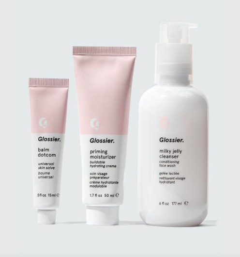 The Skincare Set with balm dotcom, priming moisturizer, and milky jelly cleanser