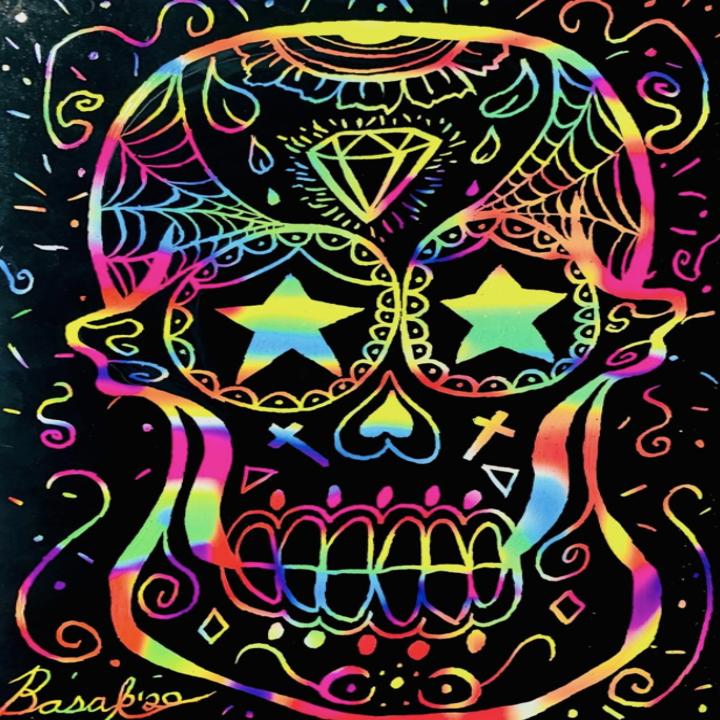 a reviewer's artfully drawn sugar skull