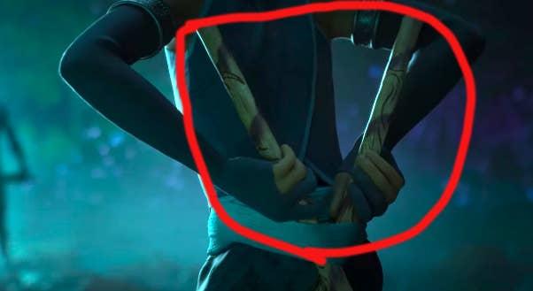 Raya wielding Arnis sticks