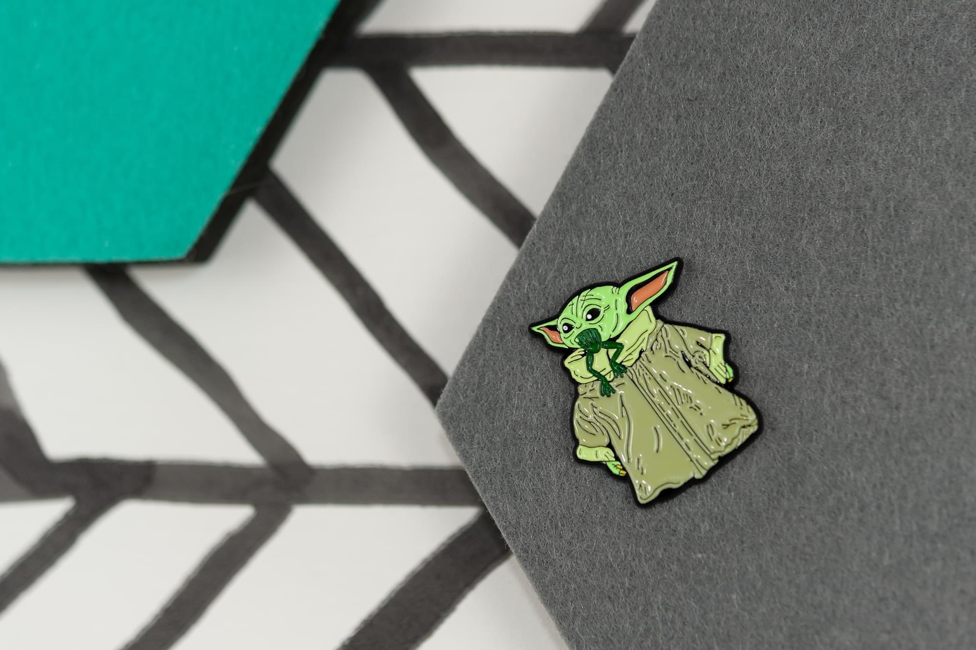 The pin on a felt pinboard