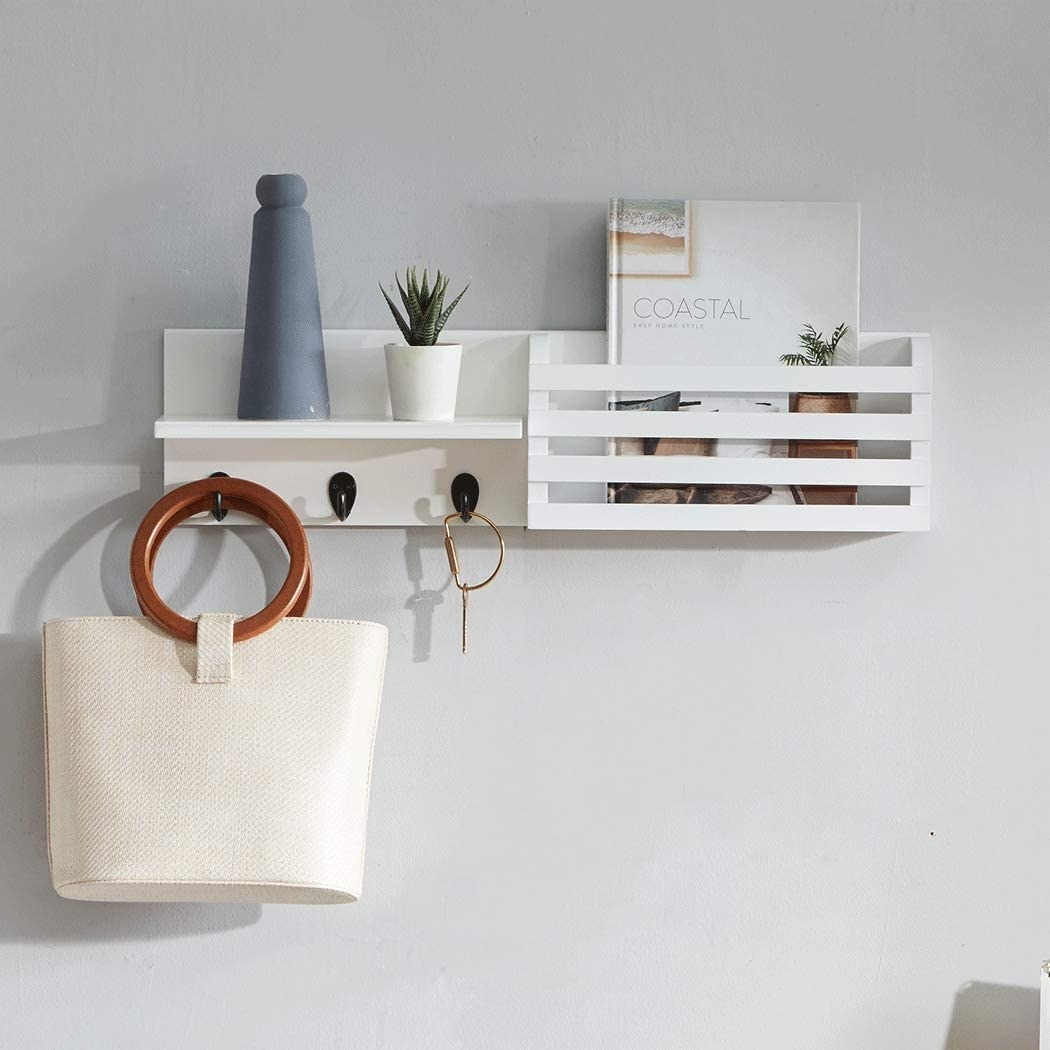 The entryway organizer in white