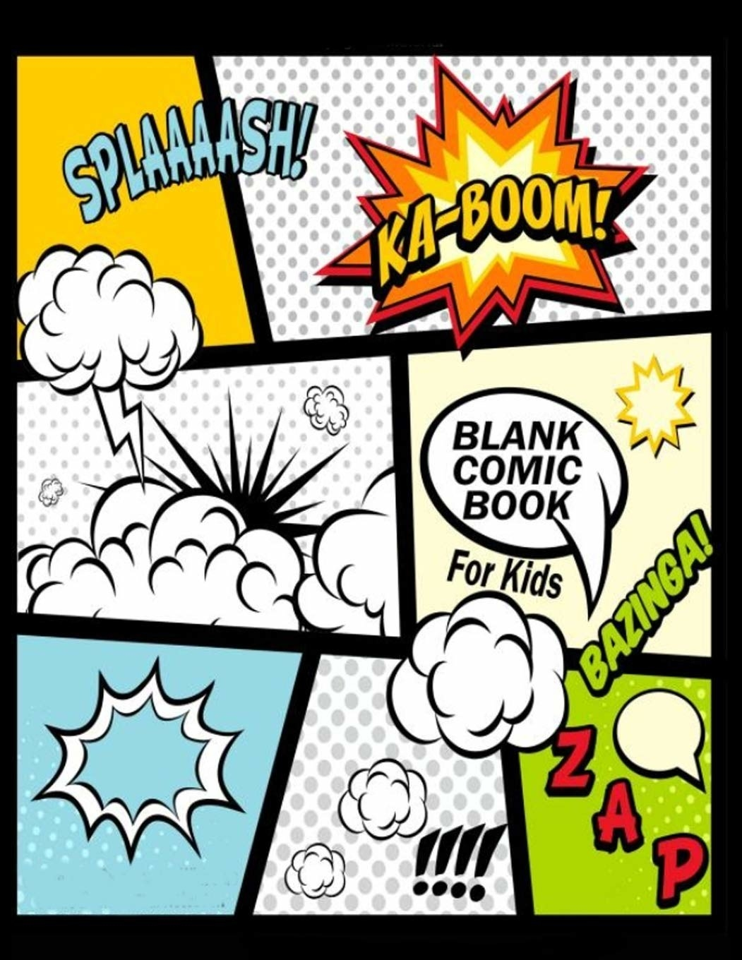 The cover of the blank comic book notebook