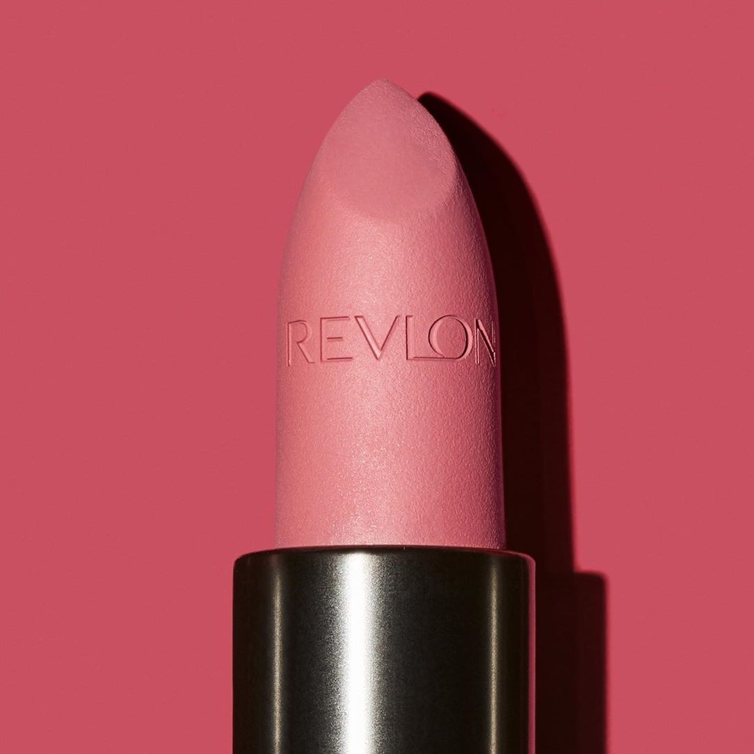 Revlon lipstick on red background