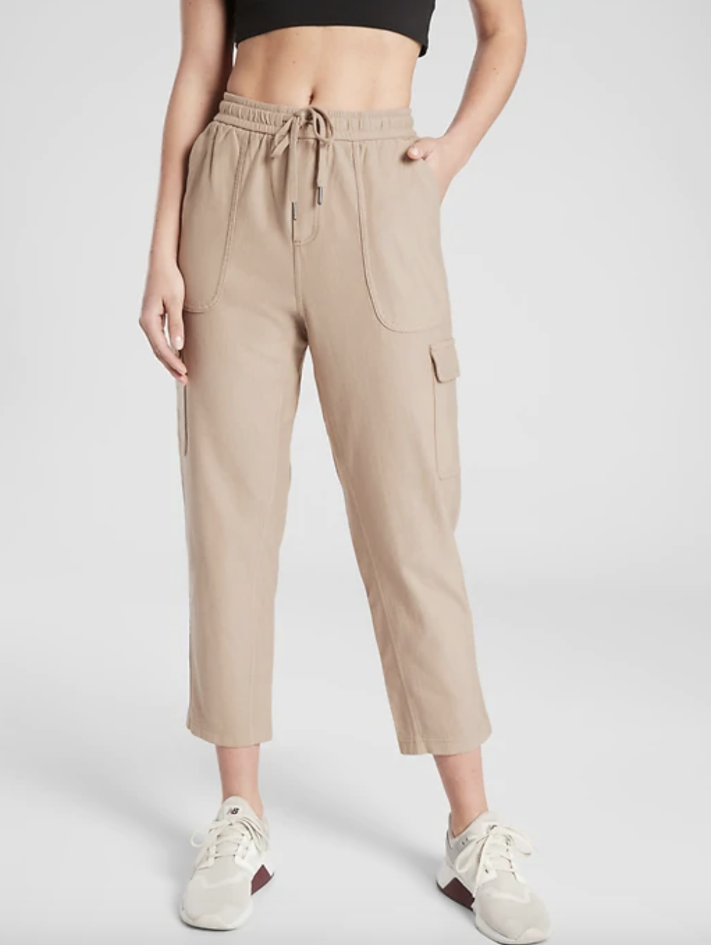 the pants in taupe