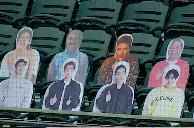 BTS' Cutouts Had The Best World Series Seats At Dodger Stadium