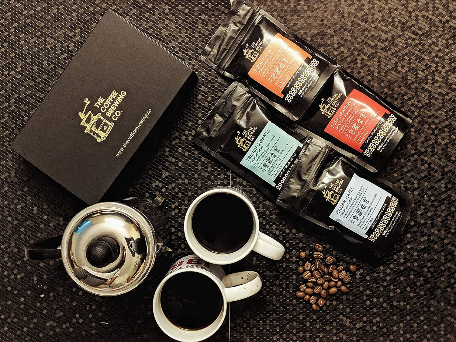 A coffee brewing kit