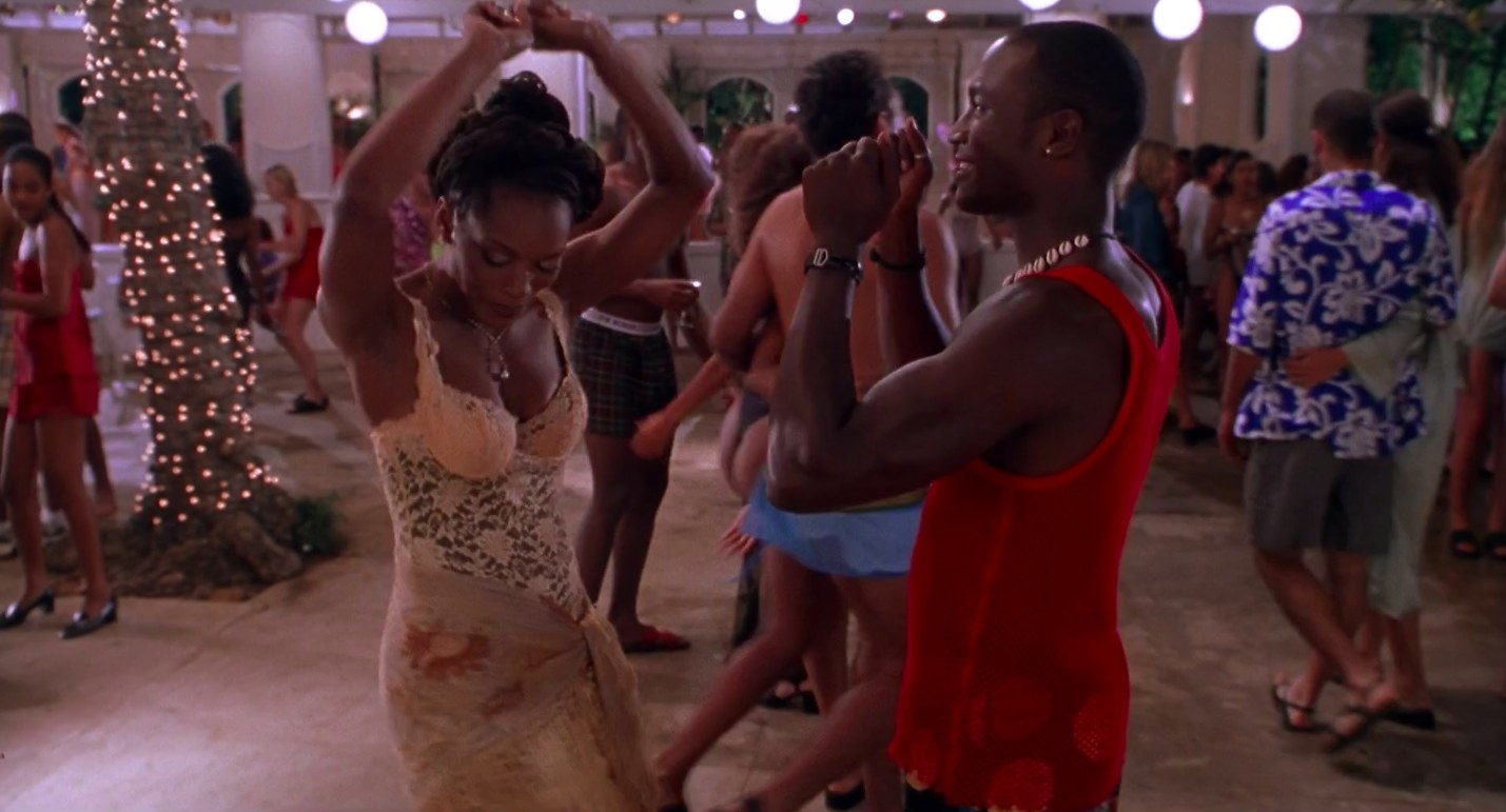 "angela bassett and taye diggs dance in ""How Stella Got Her Groove Back"""