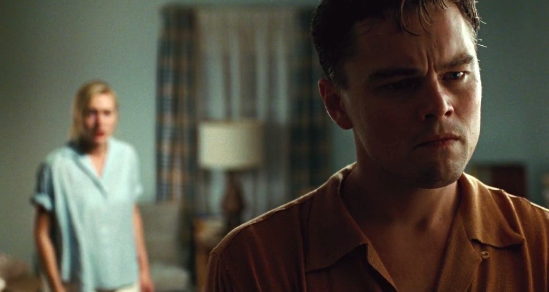 "leo dicaprio and kate winslet in ""revolutionary road"""
