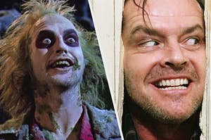Beetlejuice and Jack Torrance from The Shining