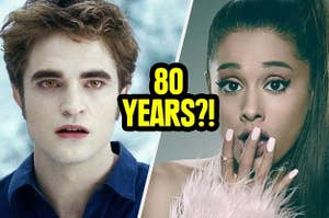 Ariana Grande shocked that Edward is going to change her in 80 years