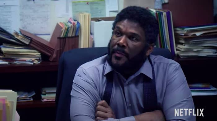 """Tyler Perry in a scene from """"A Fall From Grace"""""""