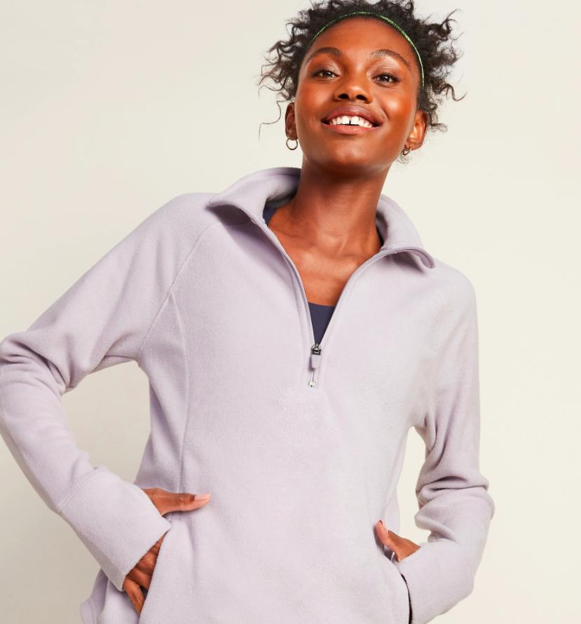 the sweatshirt in lilac
