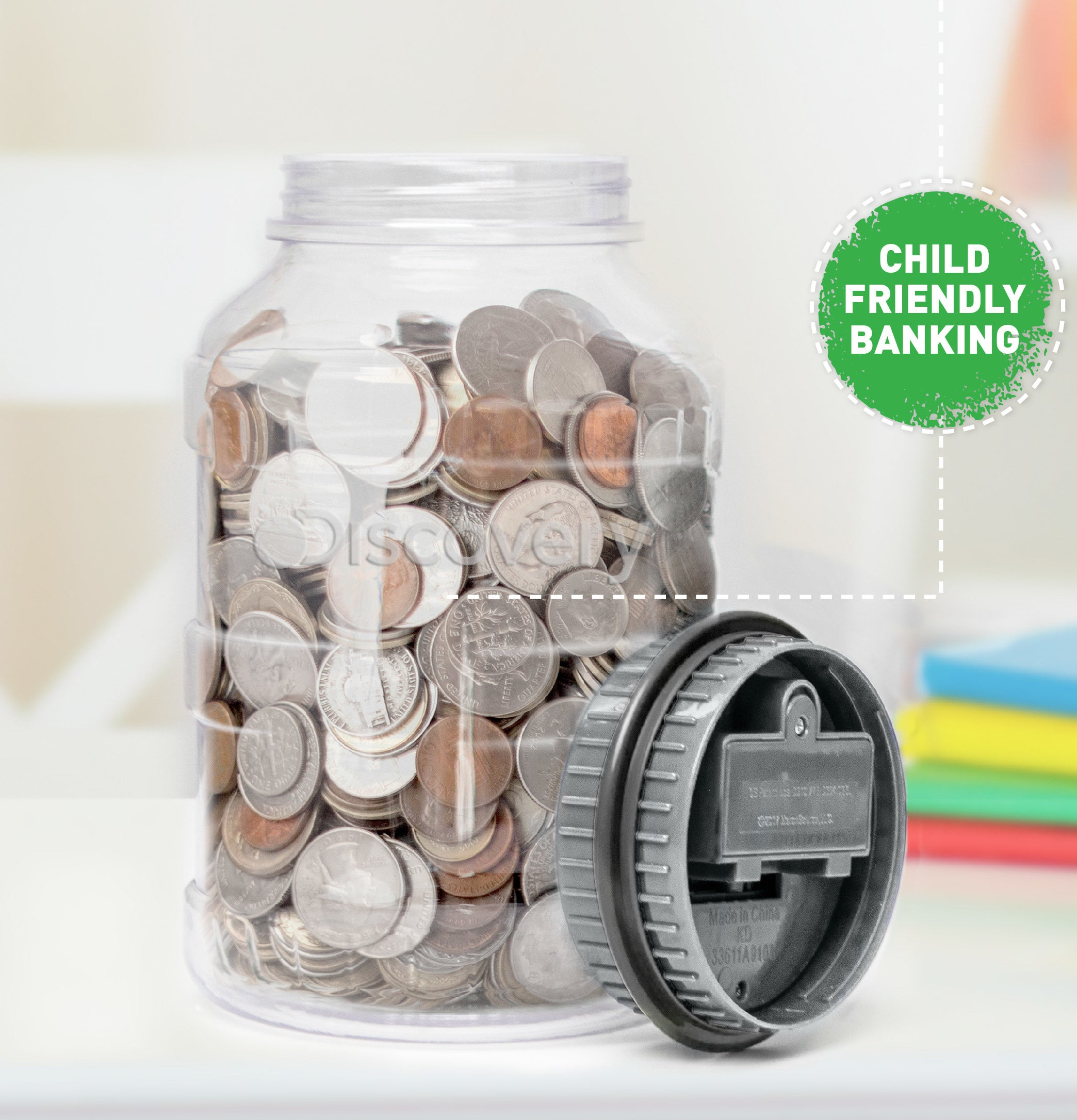 the clear coin counting jar