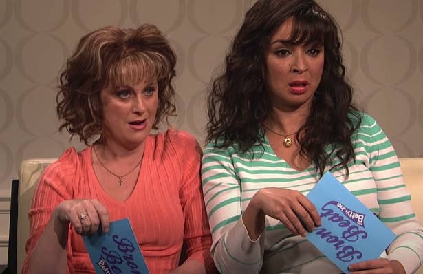 "Amy Poehler and Maya Rudolph on ""Saturday Night Live"" in a ""Bronx Beat"" sketch"