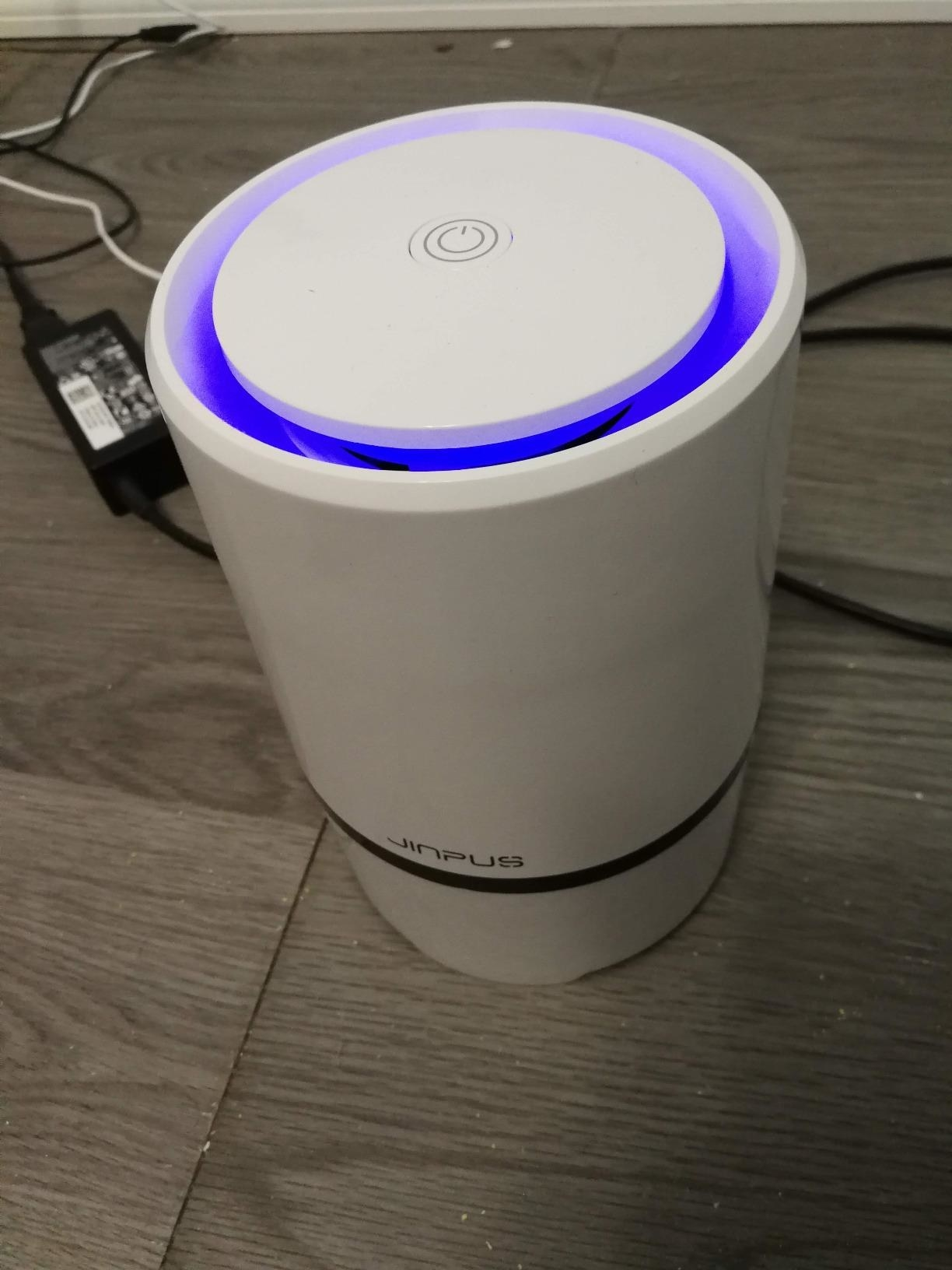 A reviewer image of the JINPUS Air Purifier