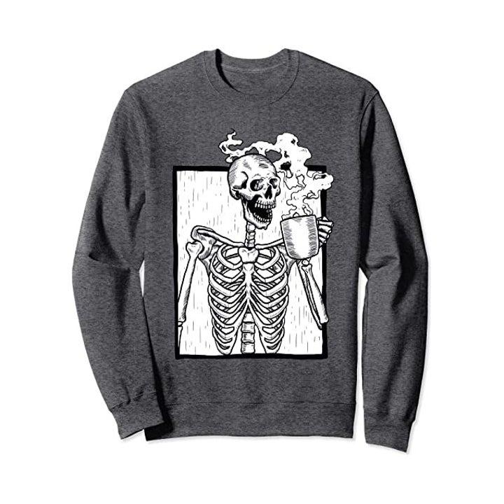 the sweatshirt in grey