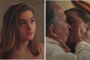Dylan Sprouse making out with an older man
