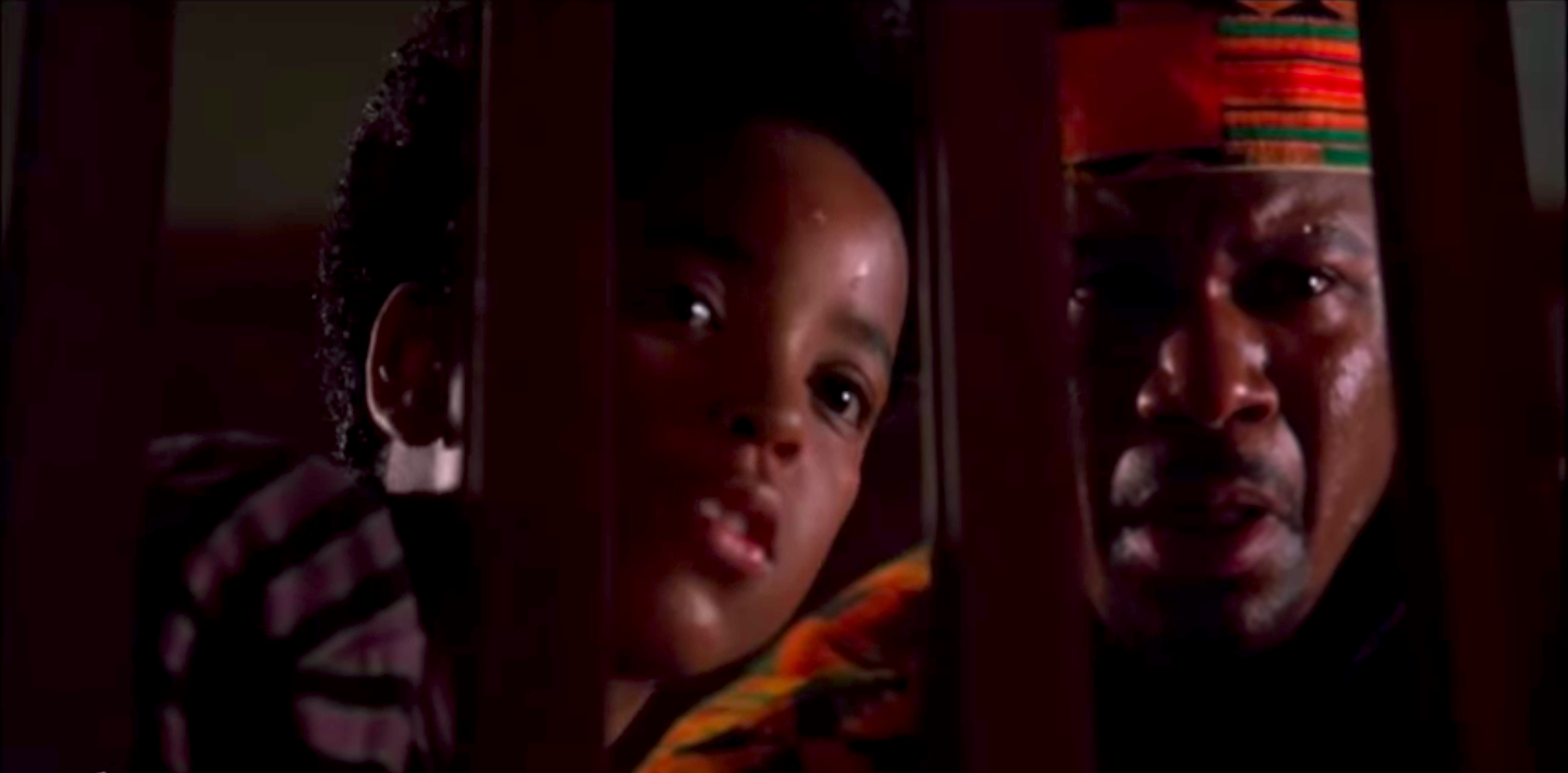 Brandon Adams and Ving Rhames in The People Under the Stairs