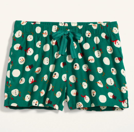 the shorts with snowmen on them