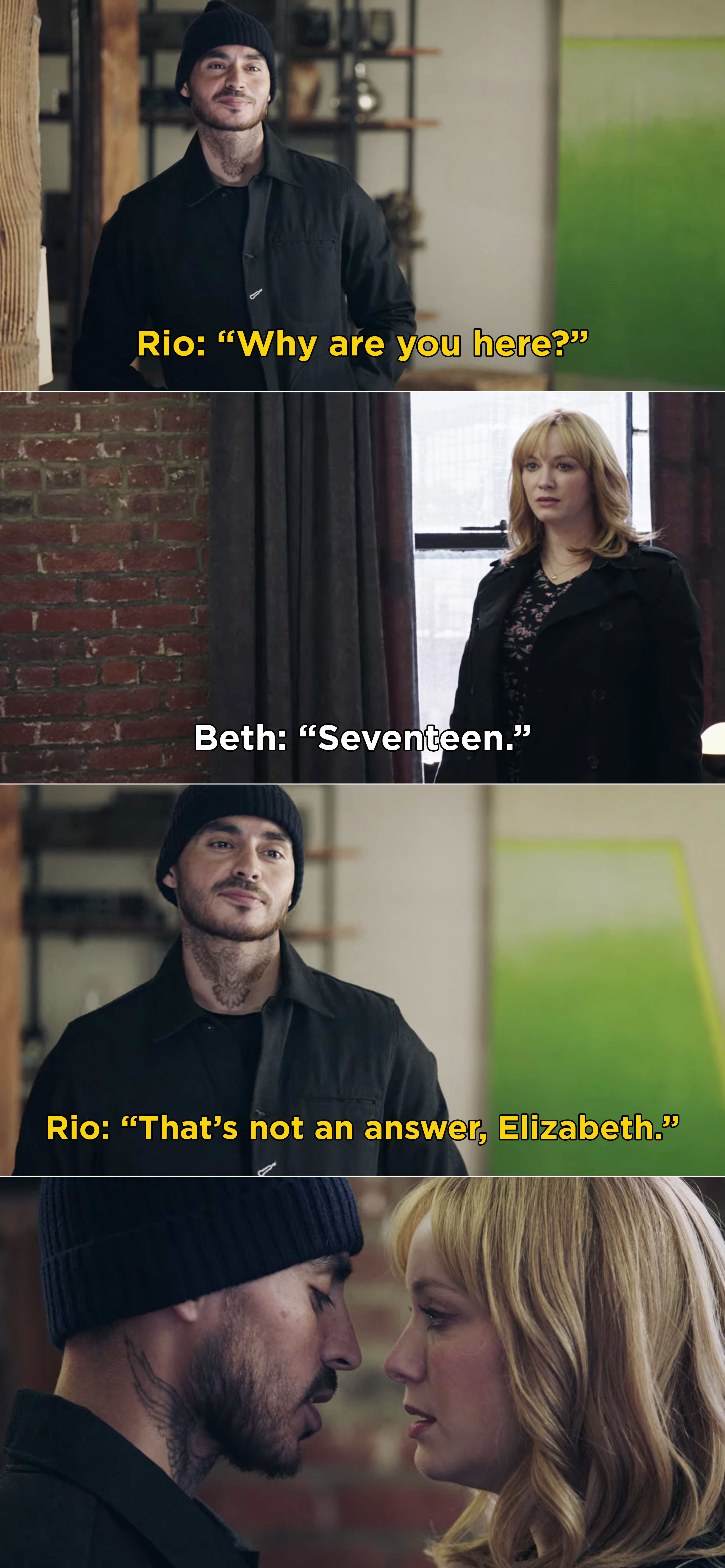 "Rio calling Beth ""Elizabeth"""