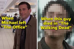 screencap from the office and the walking dead