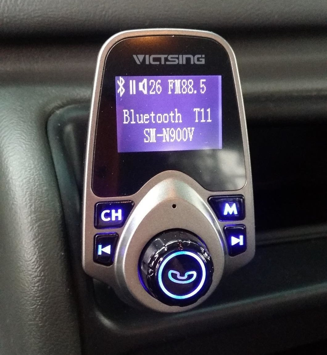 The adapter installed in a Reviewer's car