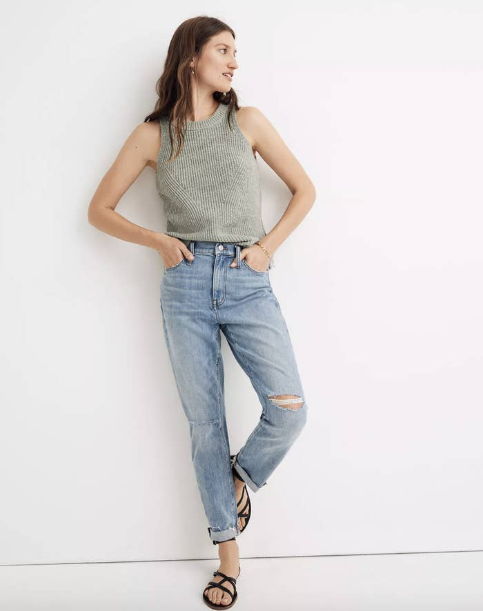 the jeans on a model