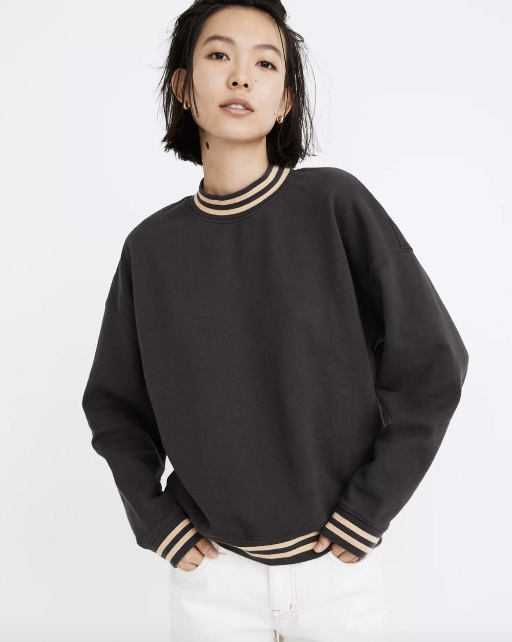 the black sweater