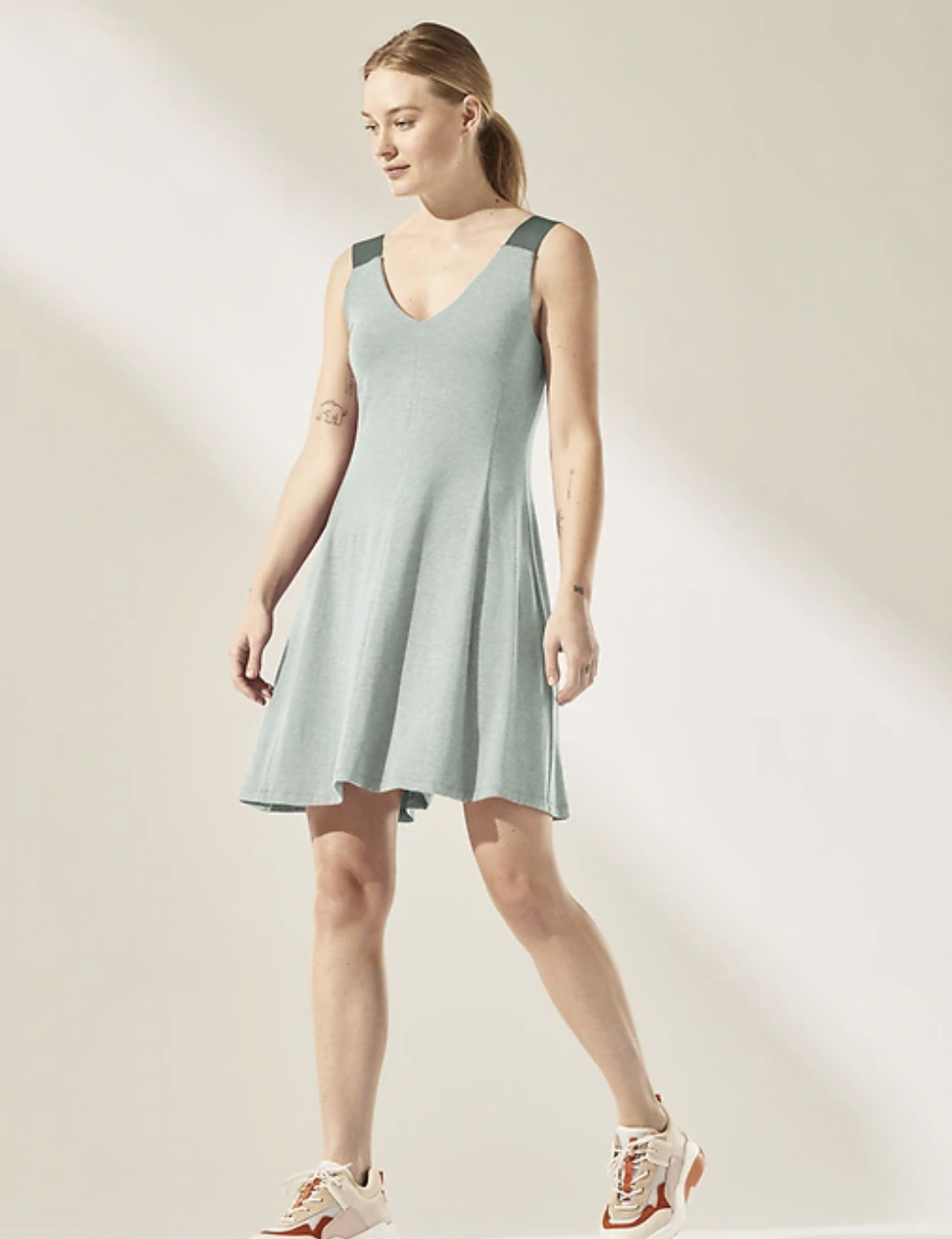 the dress in green heather