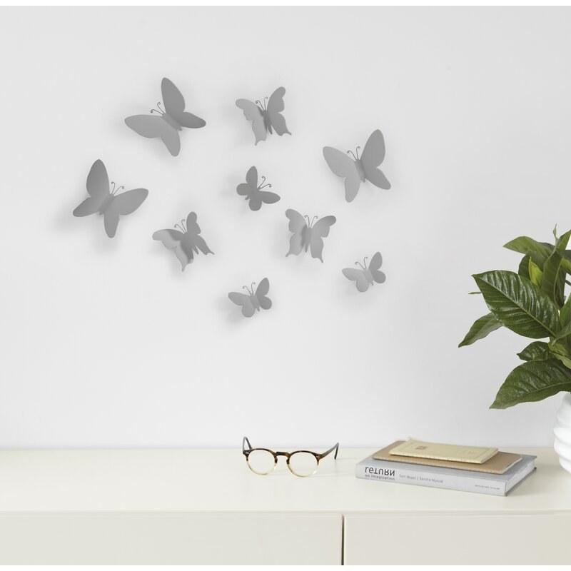 Gray butterflies