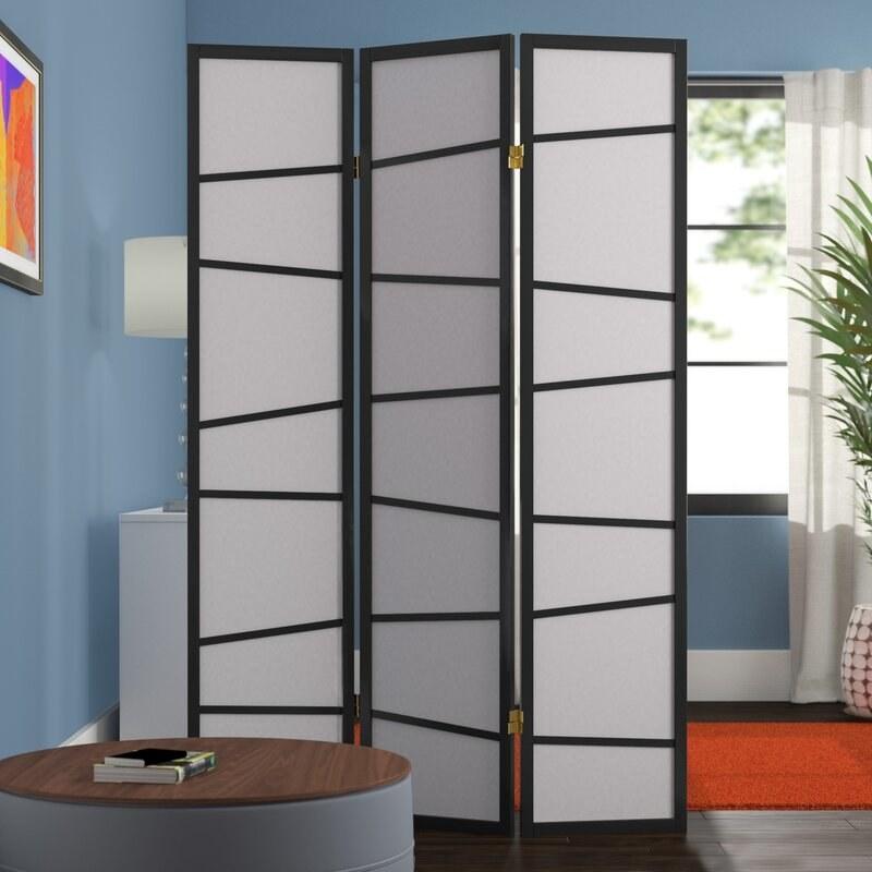 Black and white room divider