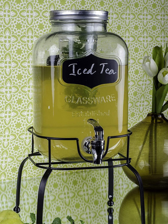 The dispenser serving iced tea.