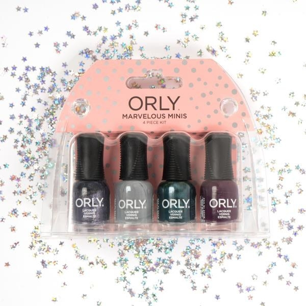 Four multi-colored Midnight Soirée nail polish bottles