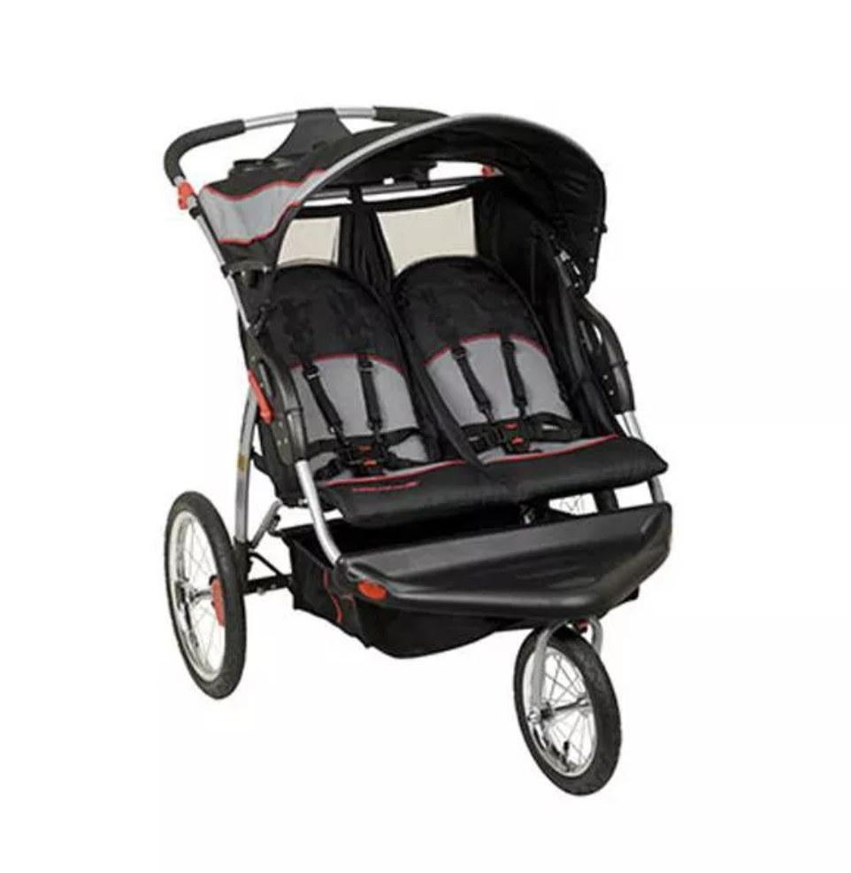 The black stroller