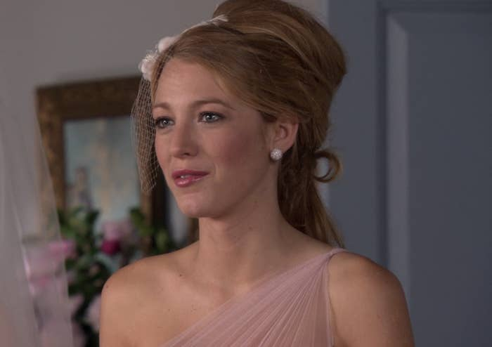 Blake Lively with an enormous Bumpit in her hair