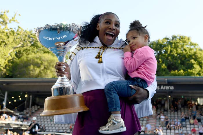 Serena and Olympia at the Aussie Open