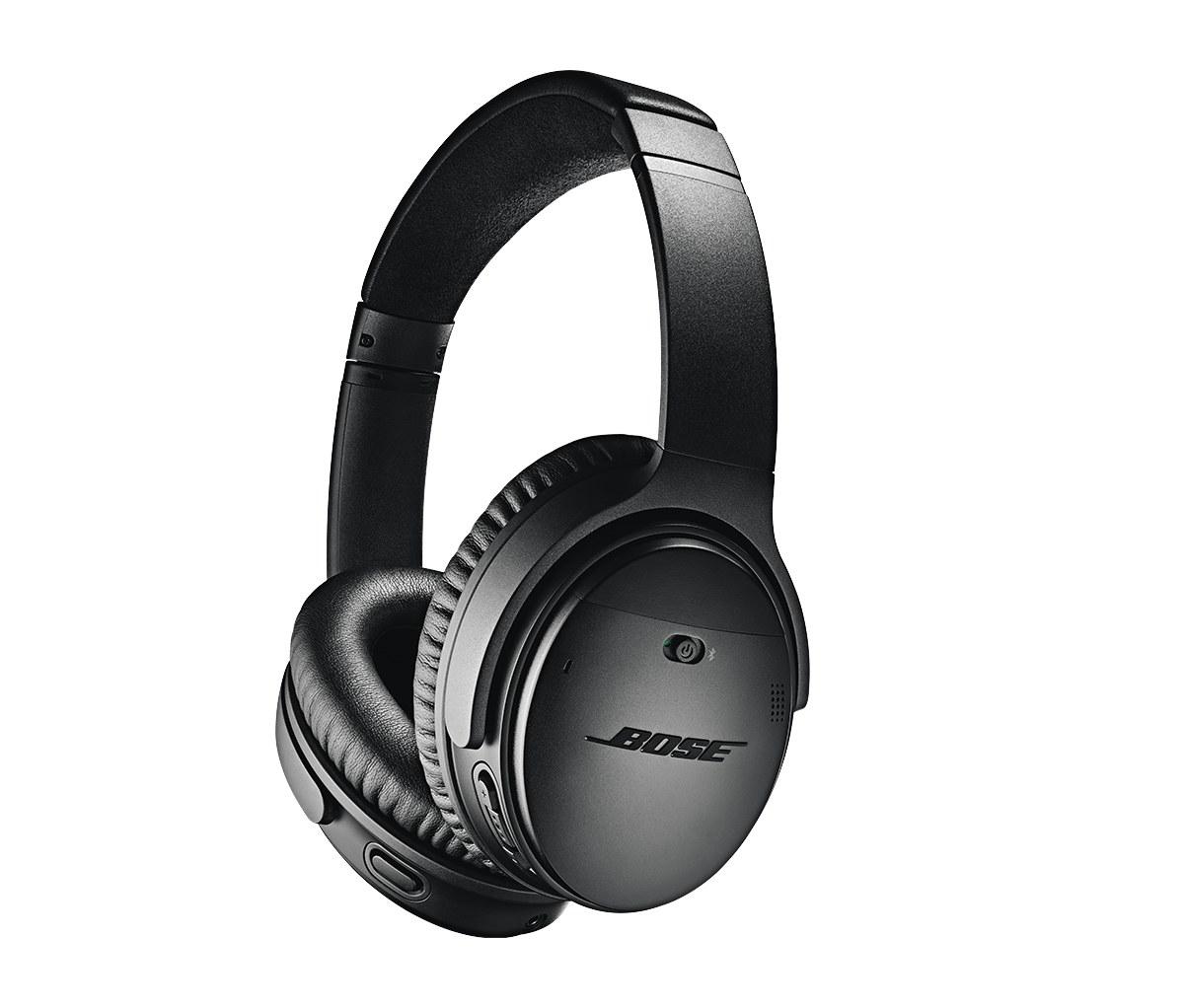 black bose noise-cancelling headphones
