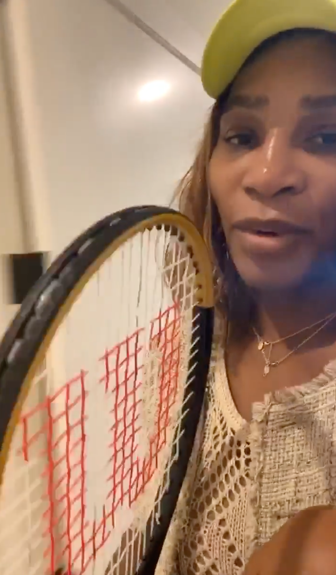 Serena Williams on Instagram Live
