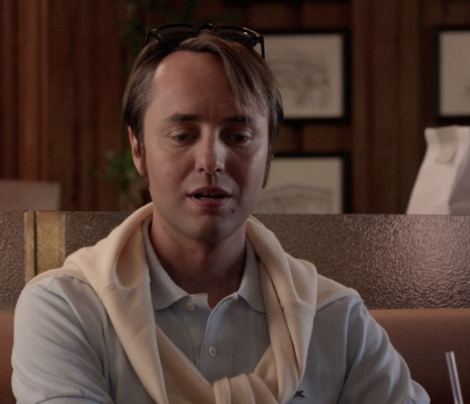 Vincent Kartheiser with his hairline pushed way back